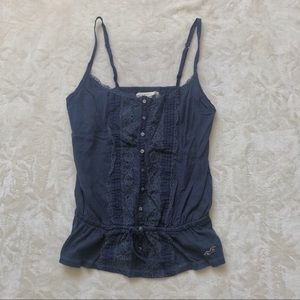 Navy Blue crochet tank